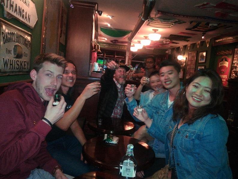 Bogota Pub Crawl party time
